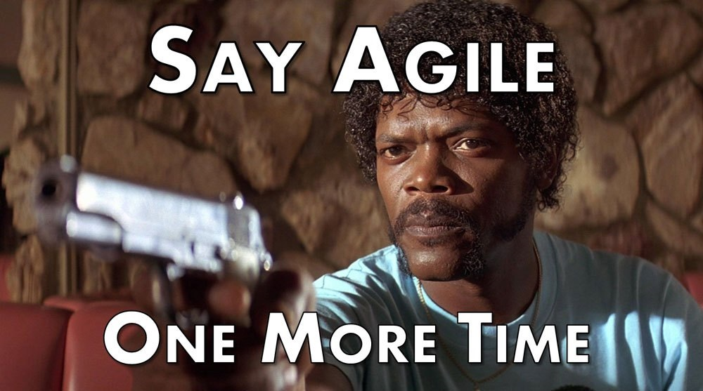 Say agile one more time and I'll be unhappy
