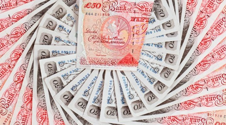 Fifty pound notes and financial value